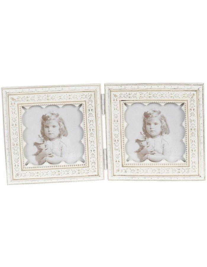 2 verbundene Fotorahmen, 8 x 8 cm | fotoalben-discount.de