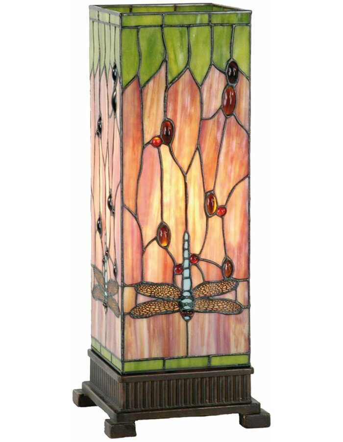 Tiffany Stehlampe Libelle Glas 18x45 cm