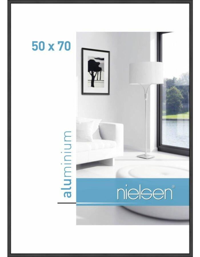 Alurahmen Classic 50x70 cm schwarz matt | fotoalben-discount.de