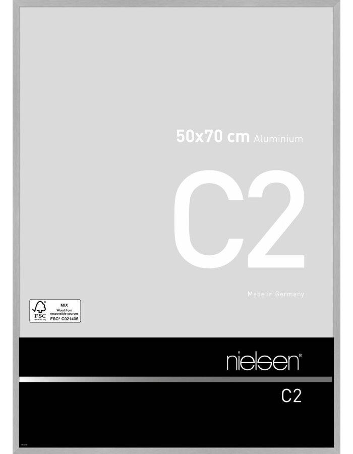 great nielsen alurahmen c x cm struktur silber matt with alurahmen