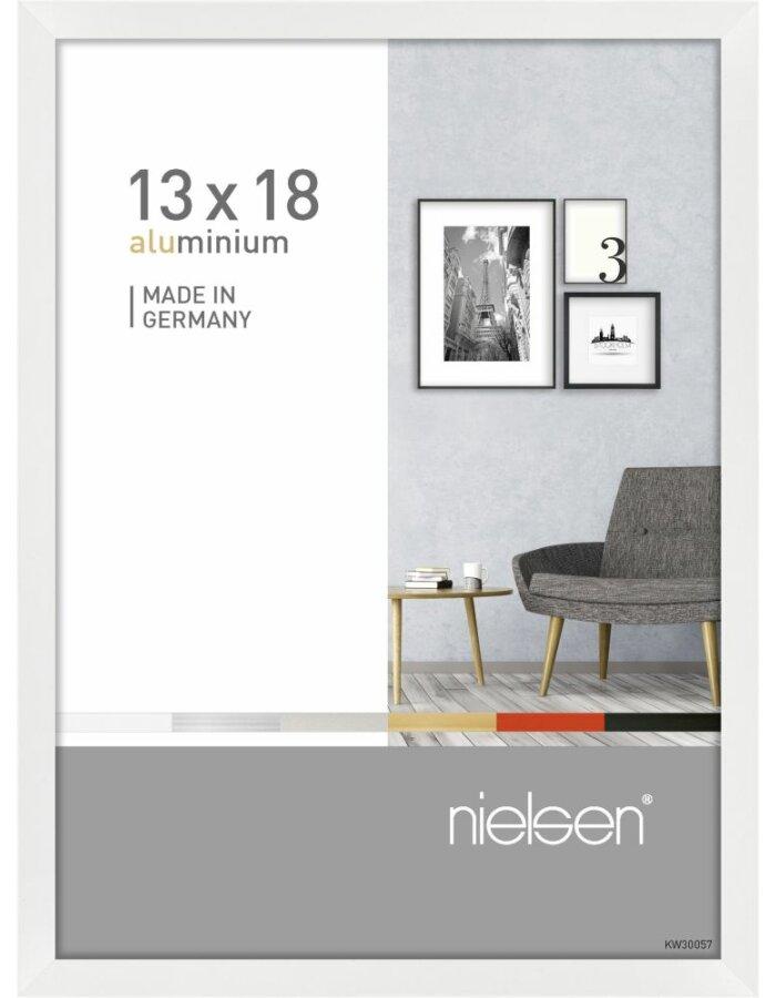 Alurahmen Pixel 13x18 cm weiß glanz | fotoalben-discount.de