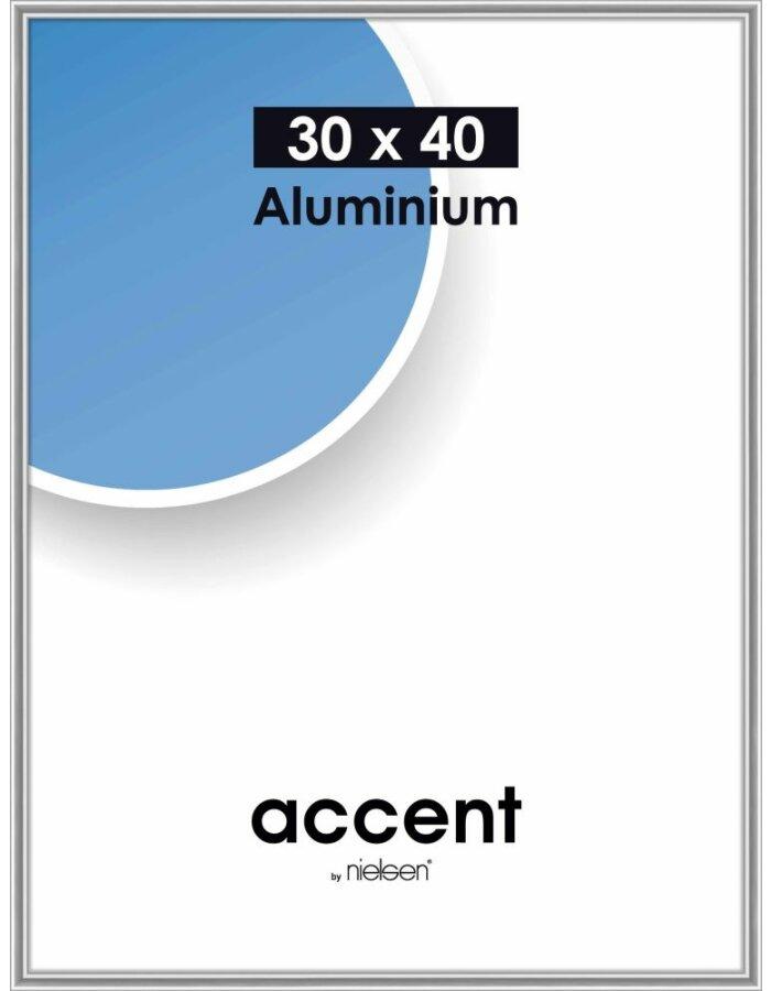 Bilderrahmen Accent Nielsen 30x40 Cm Silber Glanz Fotoalben
