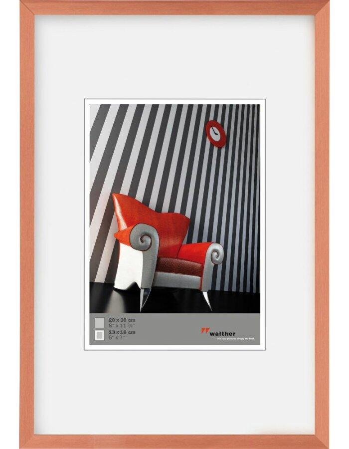 A4 Alu Bilderrahmen Chair kupfer | fotoalben-discount.de